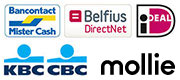 Bankcontact/Mister Cash, iDeal, KBC CBC, Belfius DirectNet, Bank Transfer